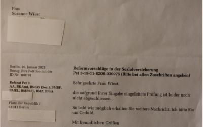 Petition Krisen-Grundeinkommen / Bundestag bittet um Geduld