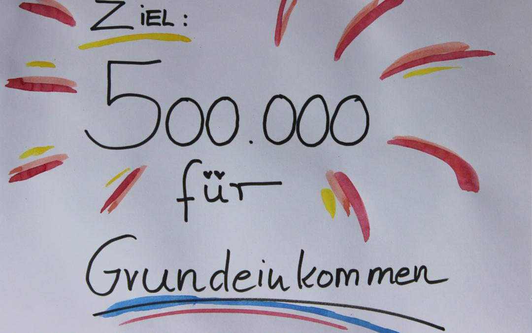 Ziel: 500.000 für Grundeinkommen